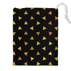 Shapes Abstract Triangles Pattern Drawstring Pouches (xxl) by Nexatart