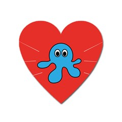 Creature Forms Funny Monster Comic Heart Magnet by Nexatart