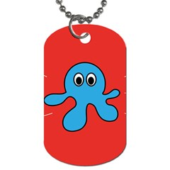 Creature Forms Funny Monster Comic Dog Tag (one Side) by Nexatart