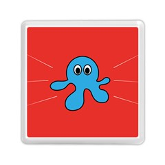 Creature Forms Funny Monster Comic Memory Card Reader (square)  by Nexatart