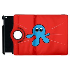 Creature Forms Funny Monster Comic Apple Ipad 2 Flip 360 Case by Nexatart