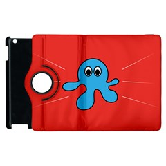 Creature Forms Funny Monster Comic Apple Ipad 3/4 Flip 360 Case by Nexatart