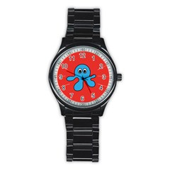 Creature Forms Funny Monster Comic Stainless Steel Round Watch