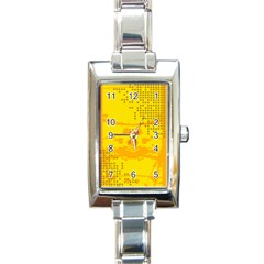 Texture Yellow Abstract Background Rectangle Italian Charm Watch by Nexatart