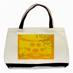 Texture Yellow Abstract Background Basic Tote Bag (two Sides)