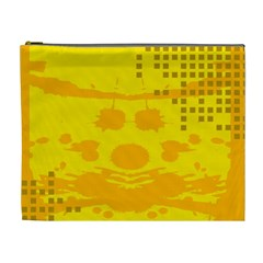 Texture Yellow Abstract Background Cosmetic Bag (xl)