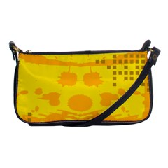 Texture Yellow Abstract Background Shoulder Clutch Bags by Nexatart