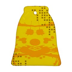 Texture Yellow Abstract Background Bell Ornament (two Sides)
