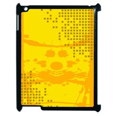 Texture Yellow Abstract Background Apple Ipad 2 Case (black) by Nexatart