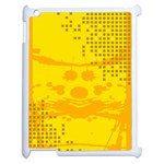 Texture Yellow Abstract Background Apple iPad 2 Case (White) Front