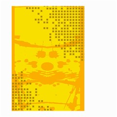 Texture Yellow Abstract Background Small Garden Flag (two Sides) by Nexatart