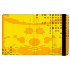 Texture Yellow Abstract Background Apple Ipad 2 Flip Case by Nexatart