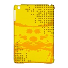 Texture Yellow Abstract Background Apple Ipad Mini Hardshell Case (compatible With Smart Cover) by Nexatart
