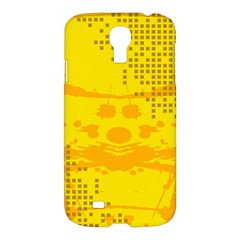 Texture Yellow Abstract Background Samsung Galaxy S4 I9500/i9505 Hardshell Case by Nexatart