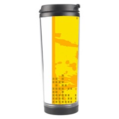 Texture Yellow Abstract Background Travel Tumbler