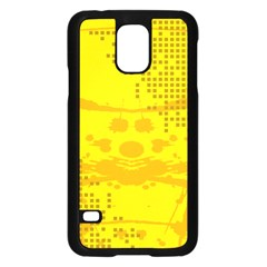 Texture Yellow Abstract Background Samsung Galaxy S5 Case (black)