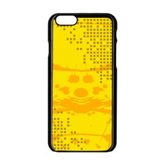 Texture Yellow Abstract Background Apple Iphone 6/6s Black Enamel Case