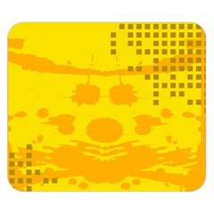 Texture Yellow Abstract Background Double Sided Flano Blanket (small)  by Nexatart