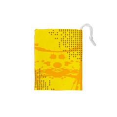 Texture Yellow Abstract Background Drawstring Pouches (xs)  by Nexatart