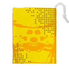 Texture Yellow Abstract Background Drawstring Pouches (xxl) by Nexatart