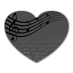 Music Clef Background Texture Heart Mousepads