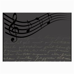Music Clef Background Texture Large Glasses Cloth by Nexatart