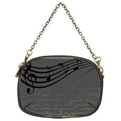 Music Clef Background Texture Chain Purses (two Sides)  by Nexatart