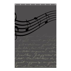 Music Clef Background Texture Shower Curtain 48  X 72  (small)  by Nexatart