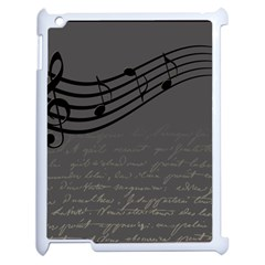Music Clef Background Texture Apple Ipad 2 Case (white)