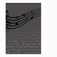 Music Clef Background Texture Small Garden Flag (two Sides) by Nexatart
