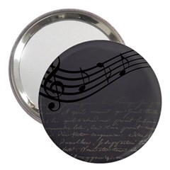 Music Clef Background Texture 3  Handbag Mirrors by Nexatart