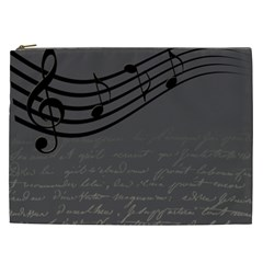Music Clef Background Texture Cosmetic Bag (xxl)  by Nexatart