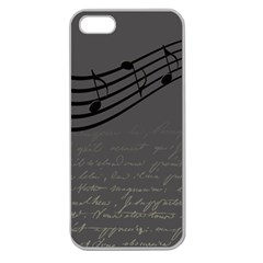 Music Clef Background Texture Apple Seamless Iphone 5 Case (clear)