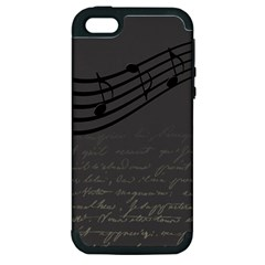Music Clef Background Texture Apple Iphone 5 Hardshell Case (pc+silicone) by Nexatart