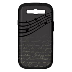 Music Clef Background Texture Samsung Galaxy S Iii Hardshell Case (pc+silicone) by Nexatart