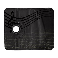 Music Clef Background Texture Galaxy S3 (flip/folio) by Nexatart