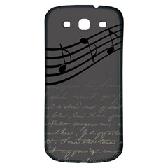 Music Clef Background Texture Samsung Galaxy S3 S Iii Classic Hardshell Back Case by Nexatart