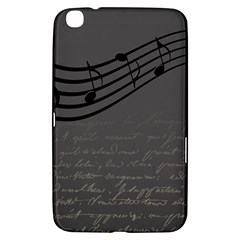 Music Clef Background Texture Samsung Galaxy Tab 3 (8 ) T3100 Hardshell Case  by Nexatart