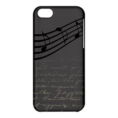 Music Clef Background Texture Apple Iphone 5c Hardshell Case by Nexatart