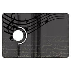 Music Clef Background Texture Kindle Fire Hdx Flip 360 Case by Nexatart