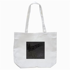 Music Clef Background Texture Tote Bag (white)