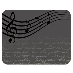 Music Clef Background Texture Double Sided Flano Blanket (medium)  by Nexatart