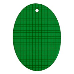 Pattern Green Background Lines Ornament (oval) by Nexatart
