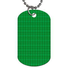 Pattern Green Background Lines Dog Tag (two Sides)