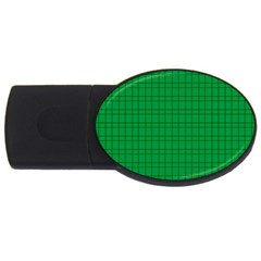 Pattern Green Background Lines Usb Flash Drive Oval (4 Gb)