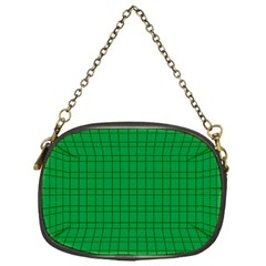 Pattern Green Background Lines Chain Purses (one Side)