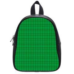 Pattern Green Background Lines School Bags (small)  by Nexatart