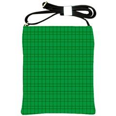 Pattern Green Background Lines Shoulder Sling Bags by Nexatart