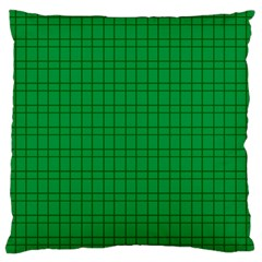 Pattern Green Background Lines Large Cushion Case (two Sides)