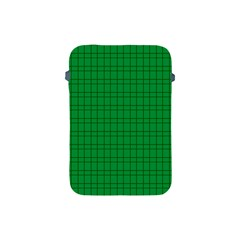 Pattern Green Background Lines Apple Ipad Mini Protective Soft Cases by Nexatart